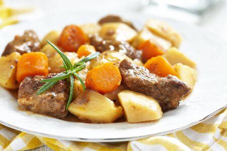 burgeoning: Beef stew Stock Photo