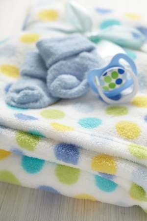 Layette for newborn baby boy photo