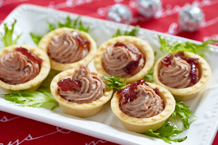 tartlet: Pate tartlets with onion jam