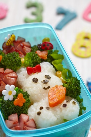 bento box: Bento box with school lunch for kids Stock Photo