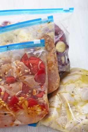Kip Crock Pot Diepvries Maaltijden voor Slow Cooking Stockfoto