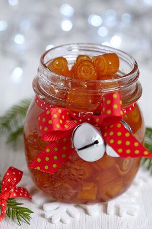 pinwheels: Citrus confiture with candied orange peels pinwheels