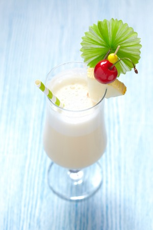 pina: Pina colada drink in a cocktail glasses