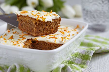 carrot cake: Carrot cakewith walnut and almond for Easter