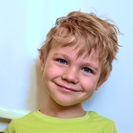 ���little one���: Portrait of joyfull little one with a funny hairstyle