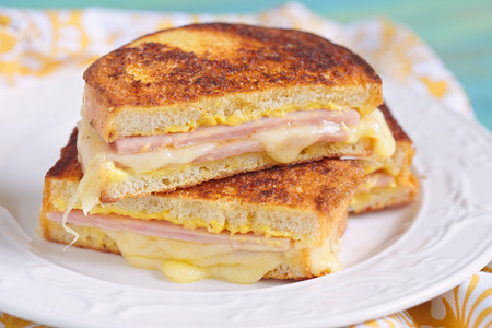 Monte Cristo sandwich with ham and cheese