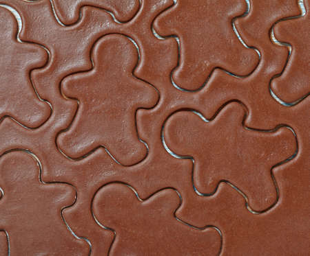 gingerbread cookies: Aromatic dough for Christmas gingerbread man cookies
