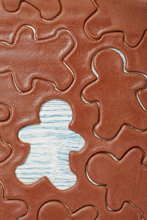 gingerbread man: Aromatic dough for Christmas gingerbread man cookies