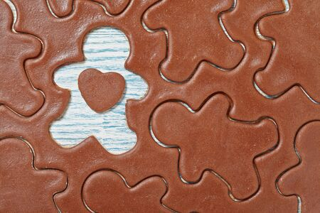 aromatic: Aromatic dough for Christmas gingerbread man cookies