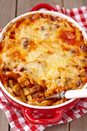marinara: Easy macaroni casserole with lean ground beef