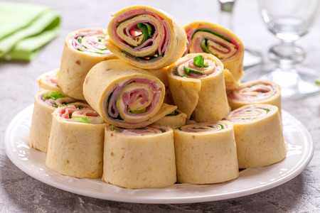 tortilla roll ups with ham and cheese Stock fotó - 68915734