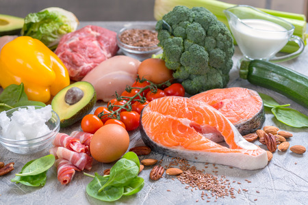 Het gezonde het eten lage plan van de keto ketogenic maaltijd van het voedselvoedsel