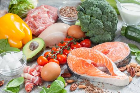 健全な食べる食品低炭水化物ケト ケト原性ダイエット食事計画