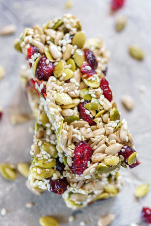 Energy bars - snack for healthy still life