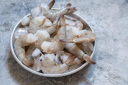 Frozen raw shrimps