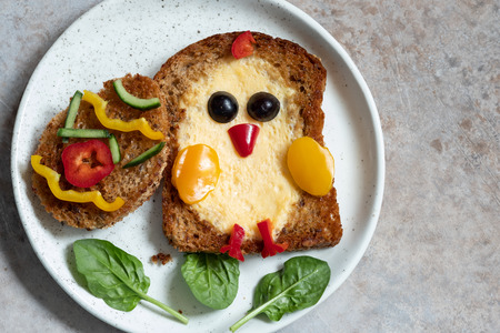 Egg in a hole is breakfast look like chick