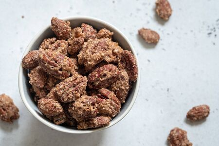 Candied almond and pecan with brown sugar and cinnamon