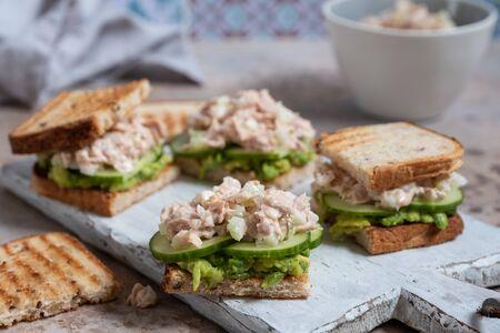 Tuna Sandwich with Avocado and Cucumber