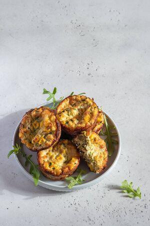zucchini corn egg muffins