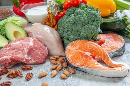 Plan de comidas de dieta cetogénica cetogénica baja en carbohidratos de alimentos saludables