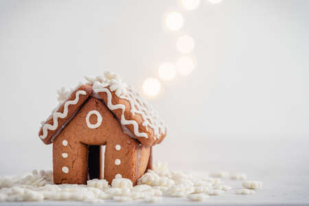 Mini gingerbread house Stock Photo