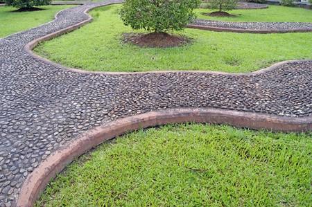 Garden path, massage for feet photo
