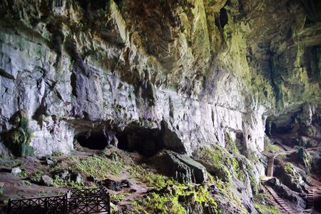 Ancient caves in which lived ancient people. Malaysia. Borneo. Stock Photo - 7931790