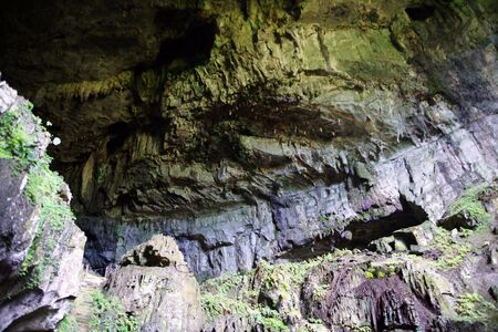 Ancient caves in which lived ancient people. Malaysia. Borneo. photo
