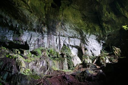 Ancient caves in which lived ancient people. Malaysia. Borneo. Stock Photo - 7931759