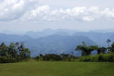 The most beautiful nature of high-mountainous Borneo on border of Borneo and Kalimantan.