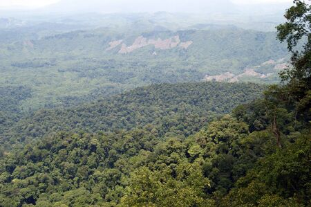 The most beautiful nature of high-mountainous Borneo on border of Borneo and Kalimantan. photo