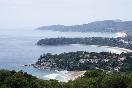 October sea landscapes of coast of island Phuket. Thailand