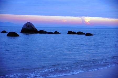 Morning. The sunrises on paradise island Penang.