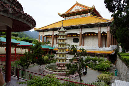 Ancient temples of island Penang. The Buddhism. Malaysia