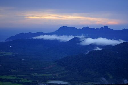 The mountains with jungle of island Langkawi. photo