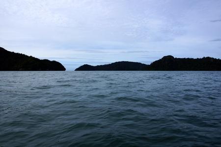 The paradise island Langkavi with wild jungle.