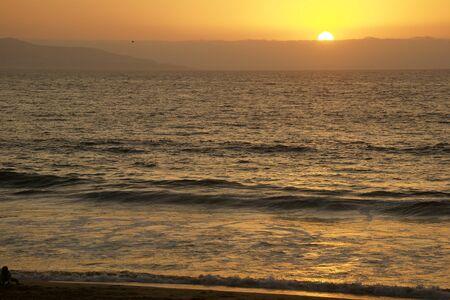Sunset in Vina del Mar Stock Photo - 11876209