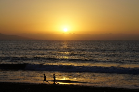 Sunset in Vina del Mar photo