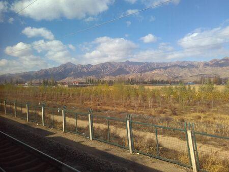 northwest: On the train to Northwest China Stock Photo