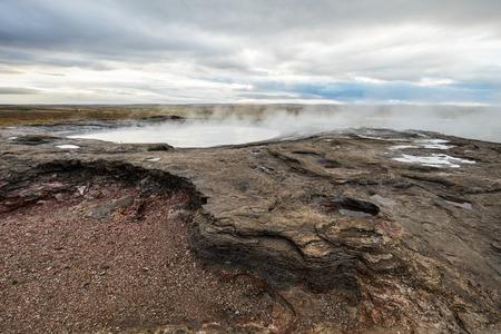 hot water geothermal: Geothermal big Geyser. Icelandic pool with a hot water.