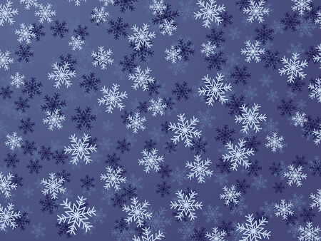 Winter Background With Different Snowflakes