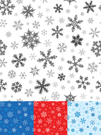 Seamless Snowflakes Pattern For Christmas Illustration