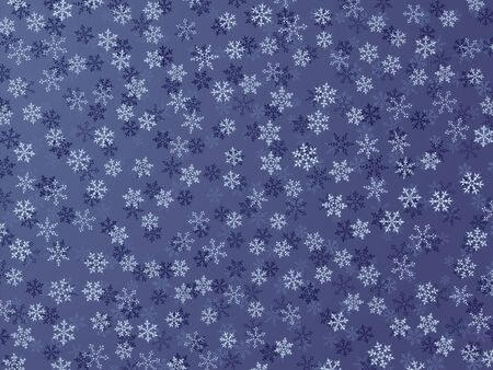 Winter Background With Different Snowflakes Stock Photo
