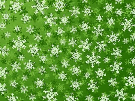 Fondo de invierno con diferentes de copos de nieve