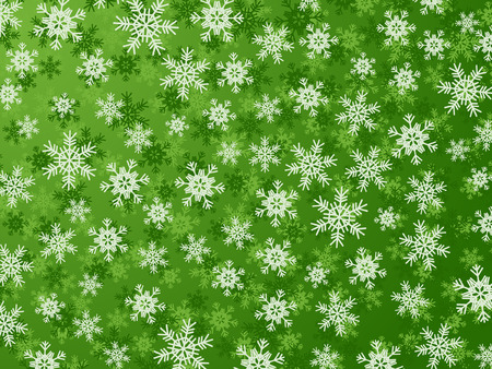Winter Background With Different Snowflakes Illustration