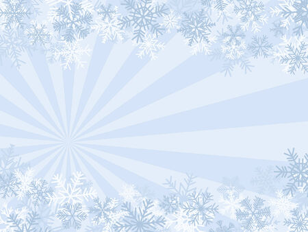 Winter Background With SnowFlakes (Quick & Easy Editing) Illustration
