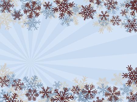 Fondo de invierno con copos de nieve (r�pido y f�cil edici�n) Vectores