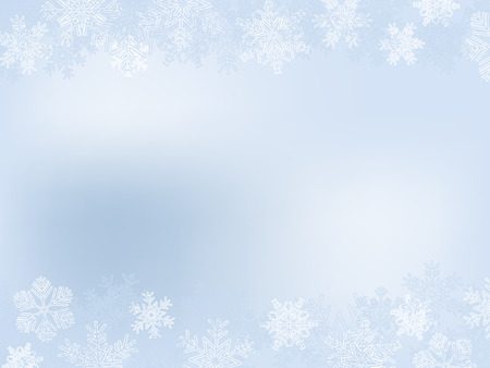 Light-Blue Winter Frame With Different Snowflakes Vector