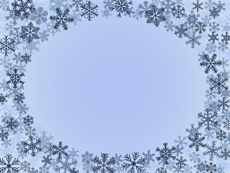 Marco de invierno en colores azul Vectores