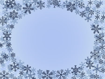 Winter Frame In Blue Colors Illustration